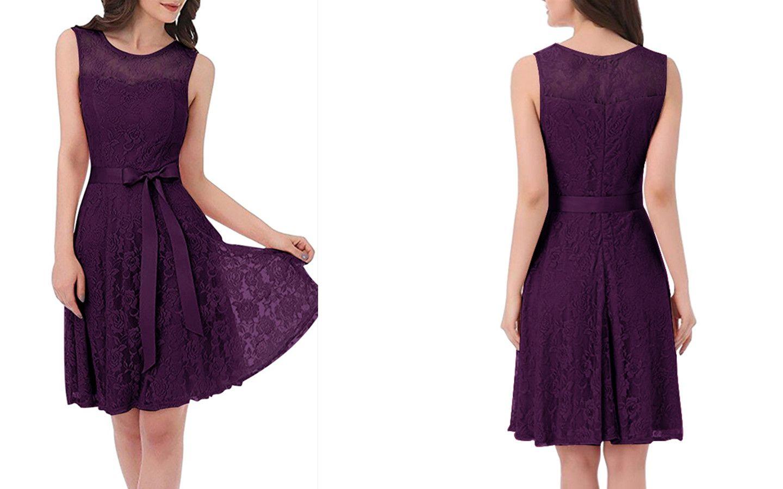 nalati lace dress with belt sleeveless dress swing party