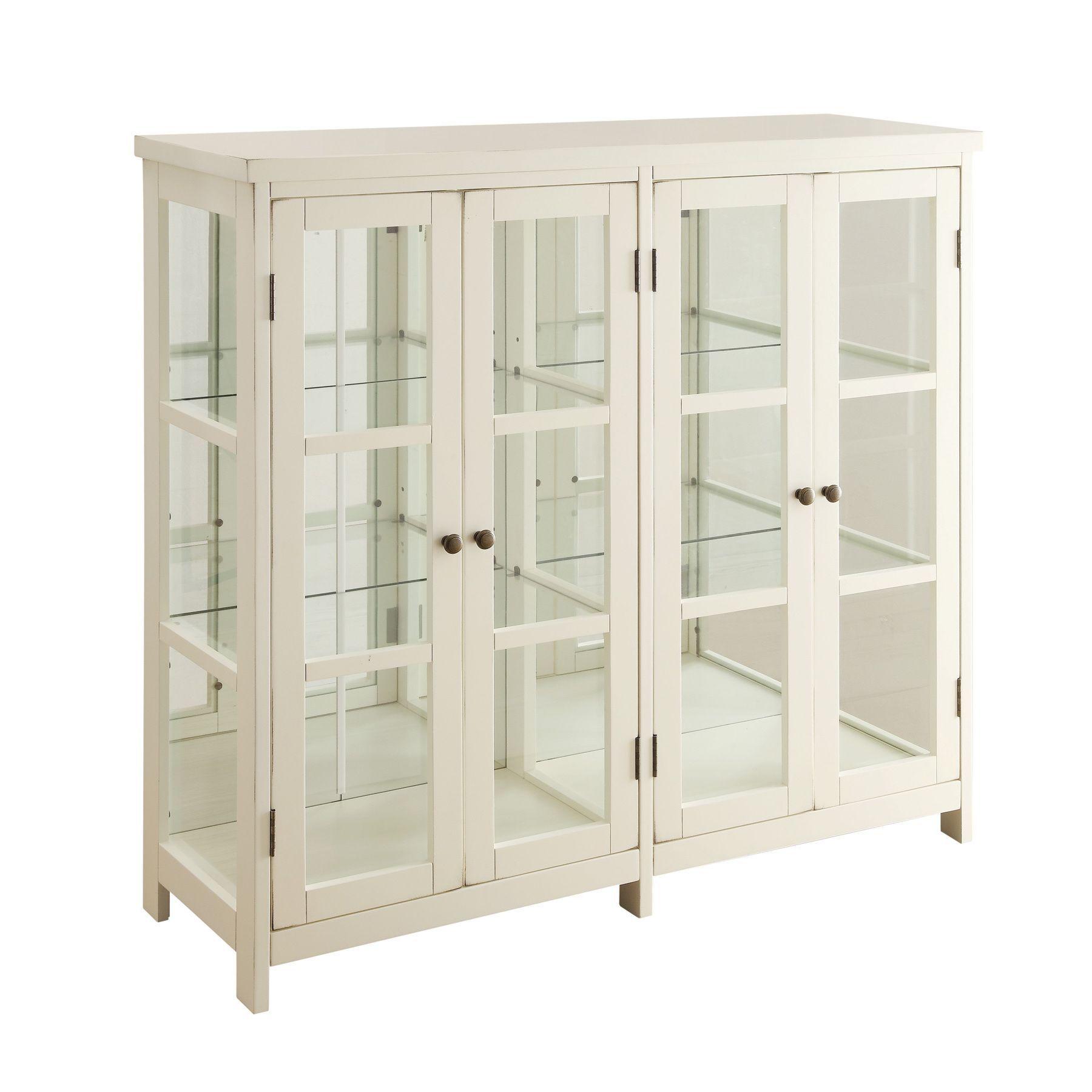 Coaster company door display cabinet craftroom in