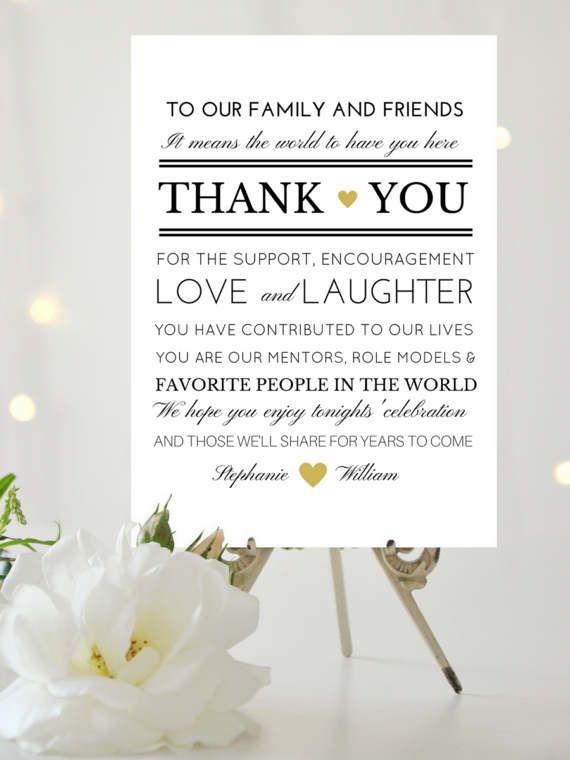 editable thank you wedding sign template printable wedding