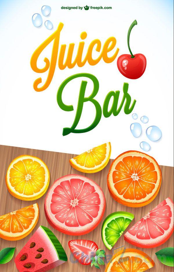 Fresh Vegetable & Fruit vector poster design | Fruit juice ...