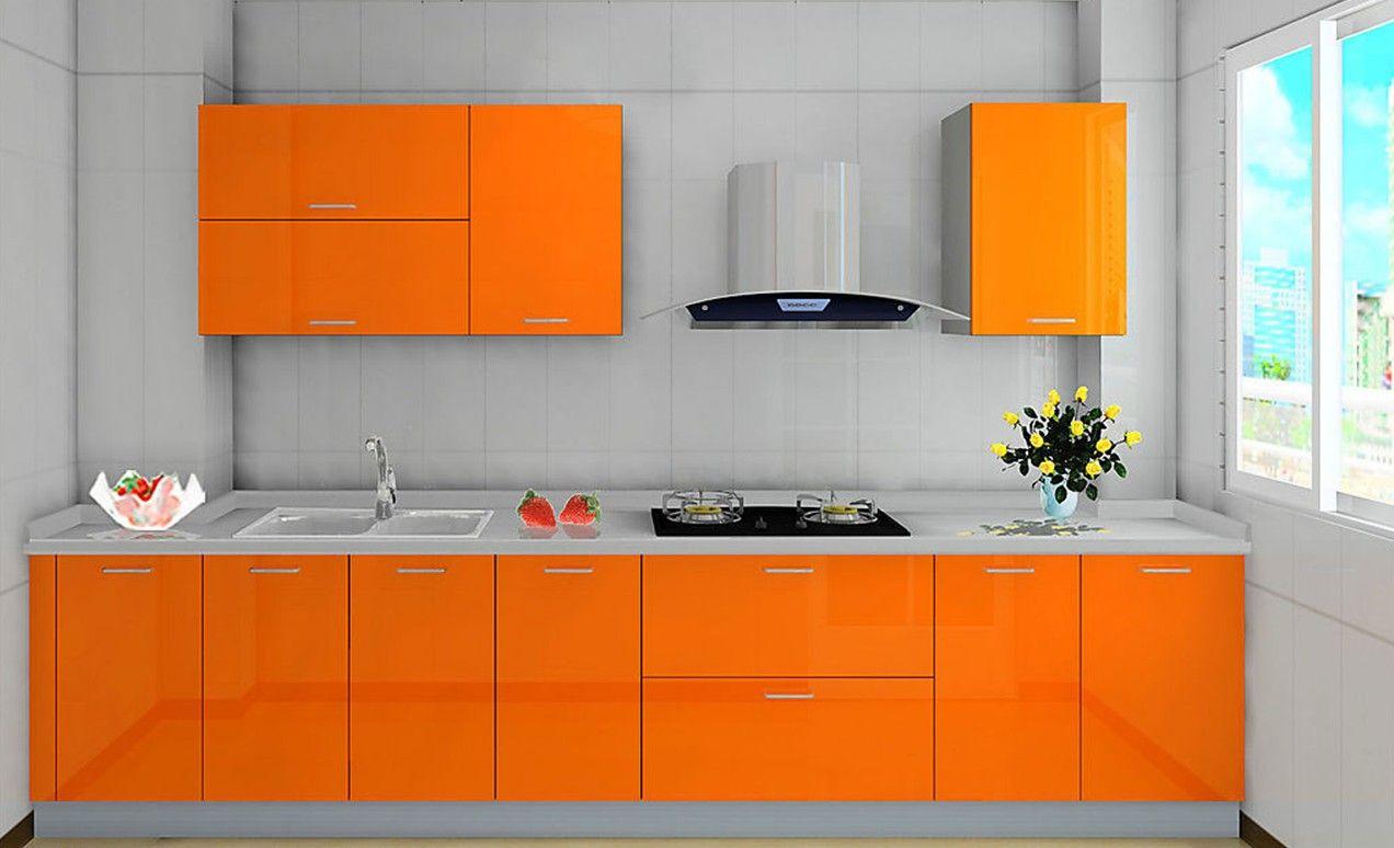 מטבח צהוב כתום Kitchen Cabinets And Backsplash Refacing Kitchen Cabinets Cost Kitchen Design