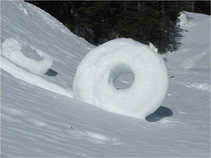 Snow wheels - a strange phenomenon of weather