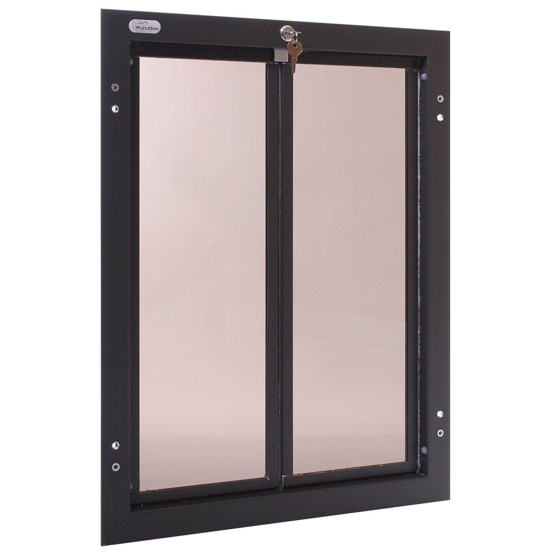 PlexiDor Performance Pet Doors XLarge Bronze Door Mount