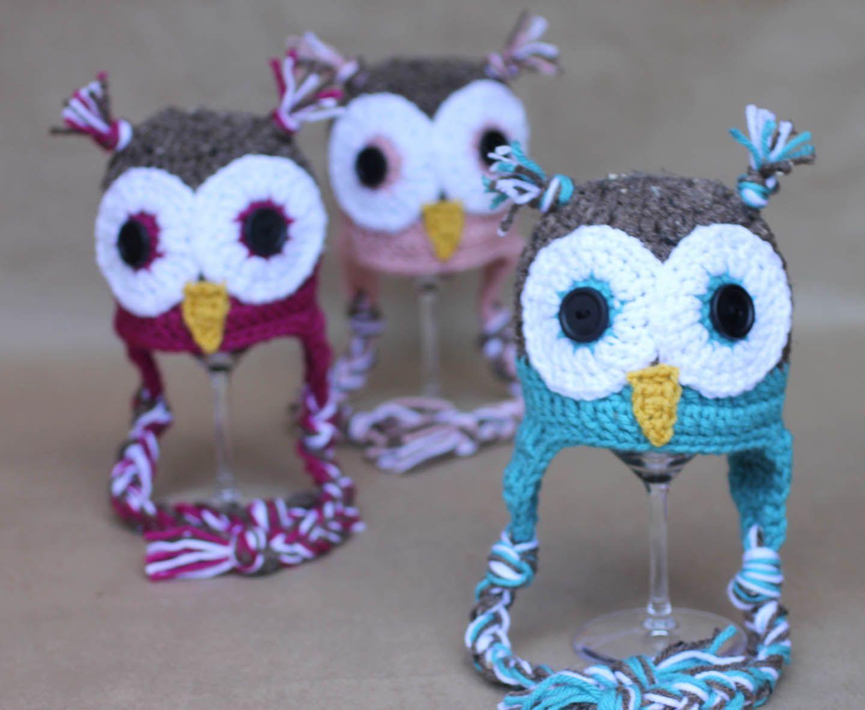Crochet Owl Hat Pattern | Pinterest | Crochet patrones, Gorros y ...