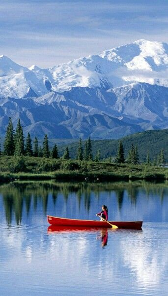 Lake view in Denali National Park, Alaska