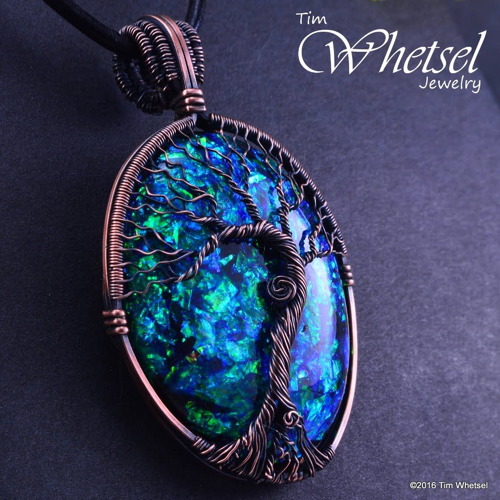 Copper tree of life wire wrap pendant opalescent orognite copper tree of life wire wrap pendant opalescent orognite handmade thumbnail 1 aloadofball Choice Image