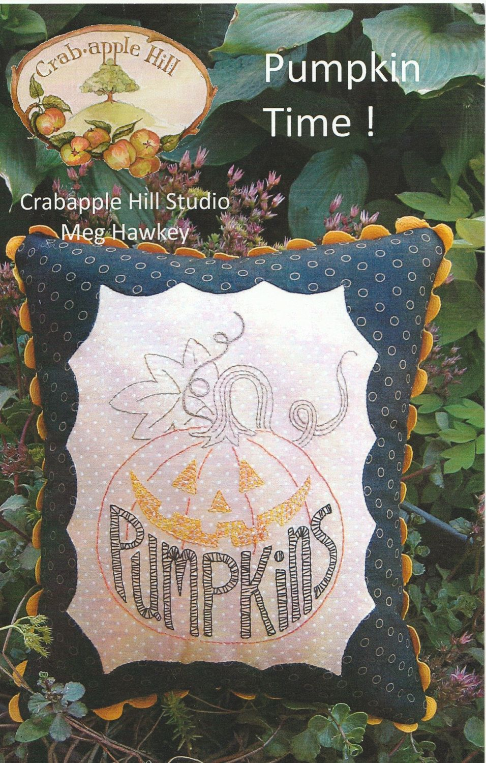 Pumpkin Time Pillow Pattern by LavenderQuiltShop on Etsy