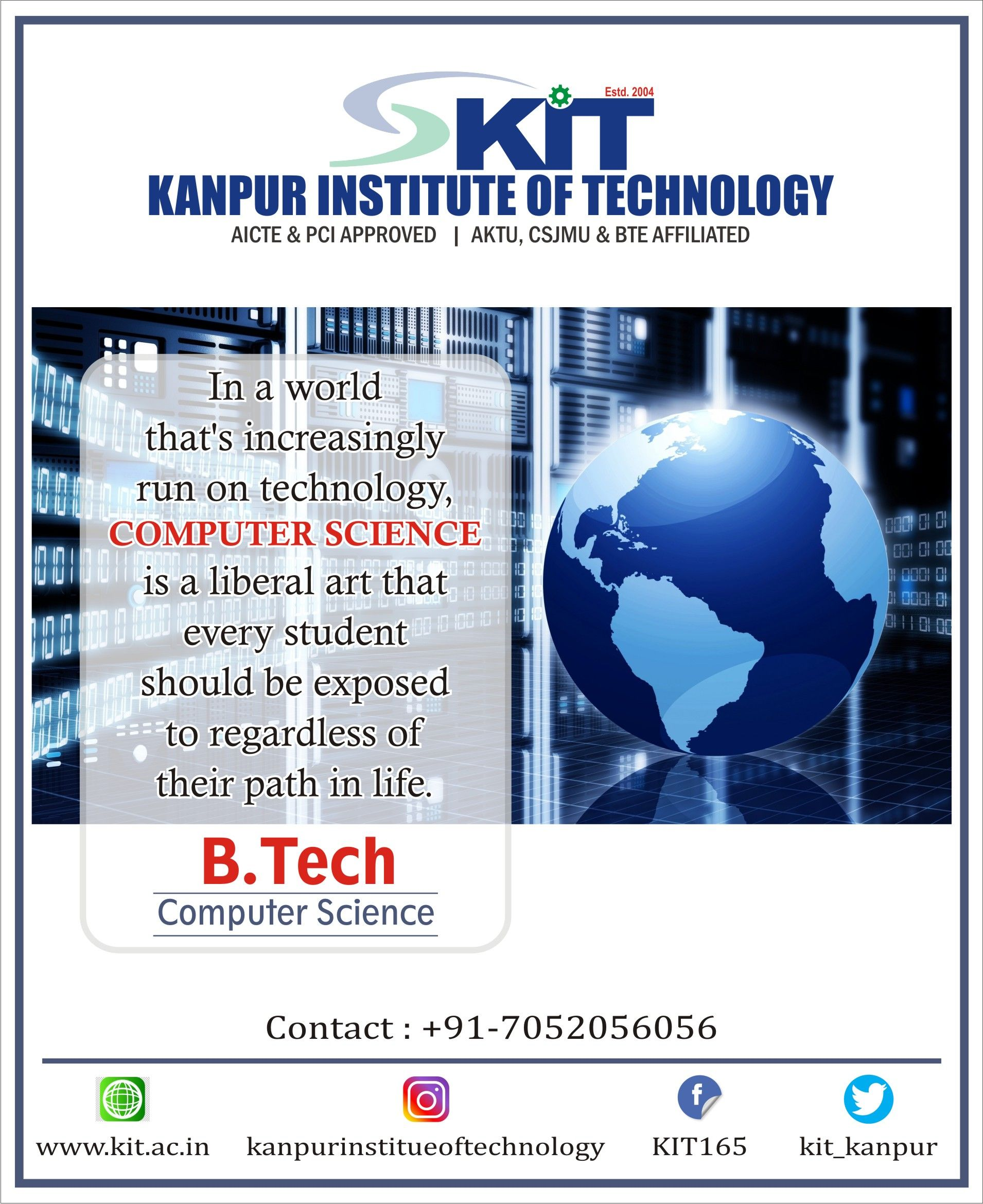 Pin By Kanpur Institute Of Technology On Kanpur Institute Of Technology Kit In 2020 Computer Science Liberal Arts Facebook Sign Up