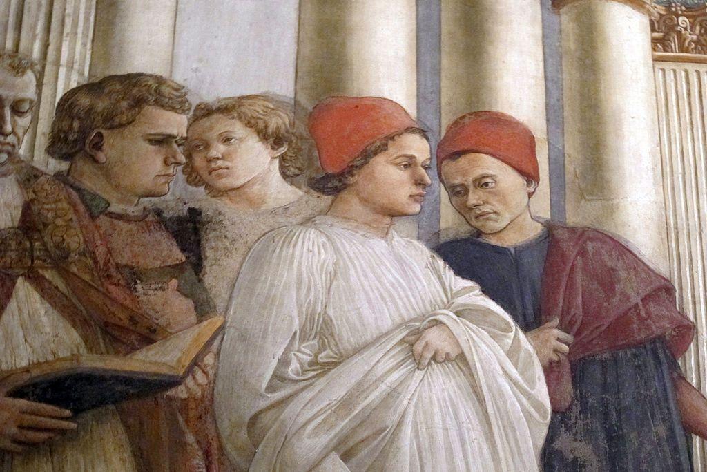 FILIPPO LIPPI (Fra) - Esequie di San Stefano, dettaglio - affresco - 1452-1465 - Cappella Maggiore, Cattedrale di Santo Stefano, Prato