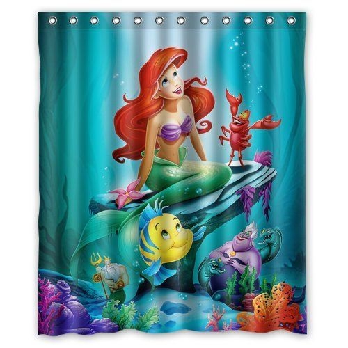 Generic The Little Mermaid Ariel Shower Curtain 60inch By 72inch