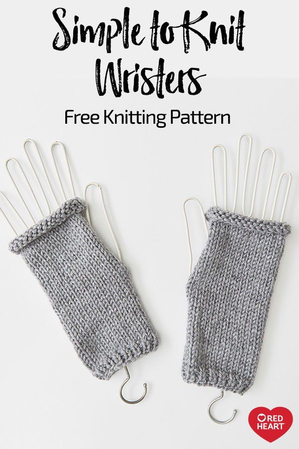 Simple to Knit Wristers free knit pattern in Soft yarn