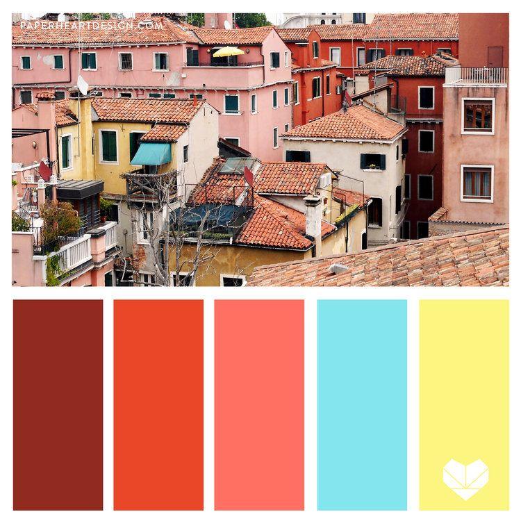Living Coral Color Palette Old World Rooftops Coral Colour Palette Color Palette Color Palette Pink