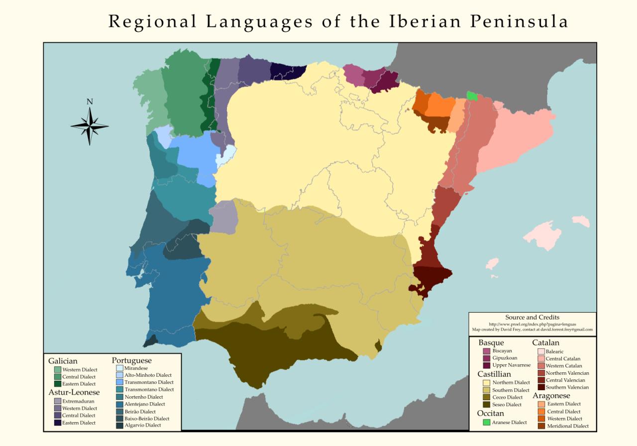 Peninsula In Europe Map.Regional Languages Of The Iberian Peninsula Maps Graphs
