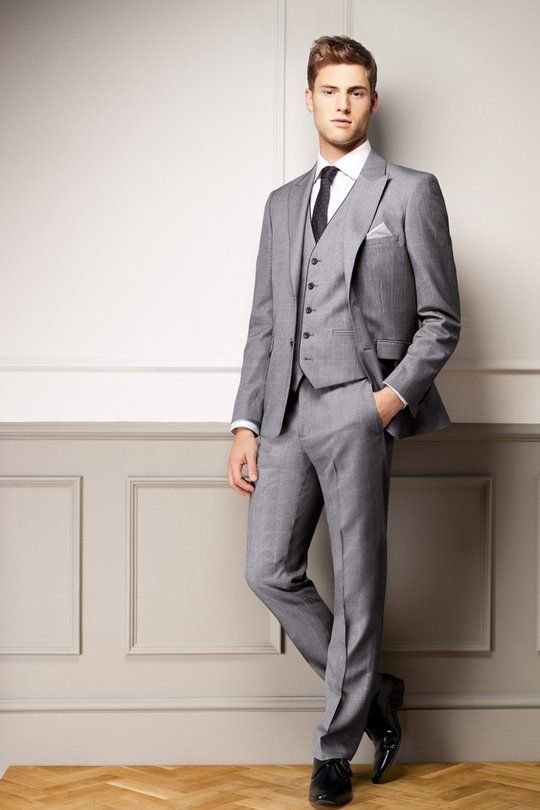 Grey 3-piece suit | Wedding Suits | Pinterest | Wedding, Grey and ...