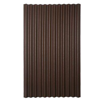 Ondura 79 In X 48 In 1 8 Gauge Brown Corrugated Cellulose Fiber Asphalt Roof Panel 20 00 Lowes Roof Panels Corrugated Roofing Corrugated Metal Roof