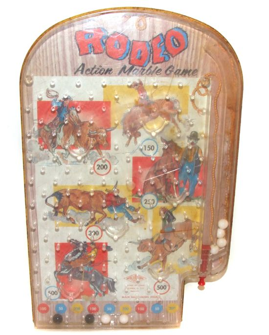 Click to see larger image and other views    	 	   Vintage Wolverine Tin Pinball Action Marble Game