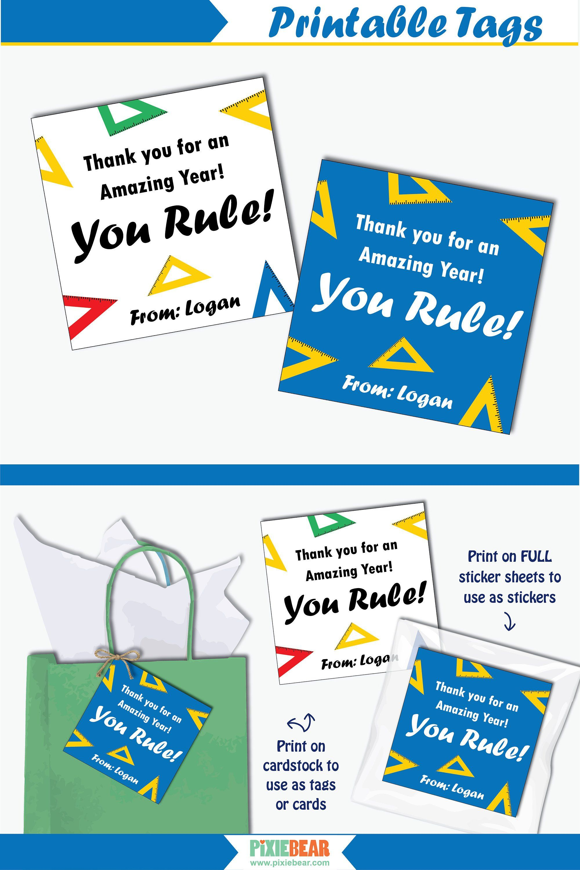graphic about Personalized Gift Tags Printable known as Math Trainer Present Tag - Printable Instructor Appreciation Tag