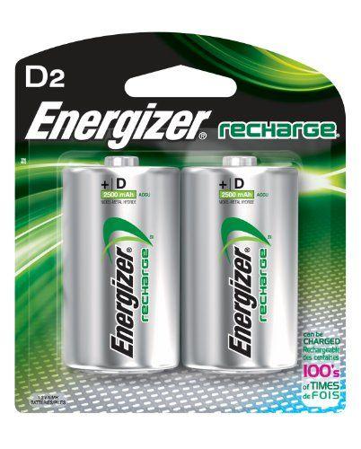 Energizer Rechargeable Batteries D 2 Count Energizer Battery Energizer Rechargeable Batteries