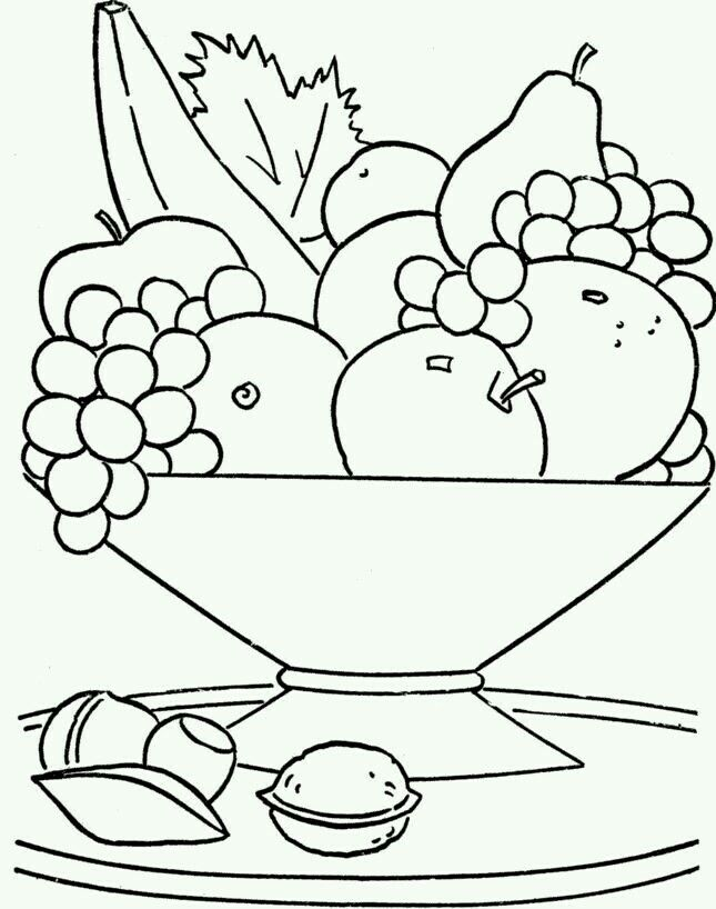 Pin By Mari Carmen On Fruteros Fruit Coloring Pages Food Coloring Pages Coloring Pictures