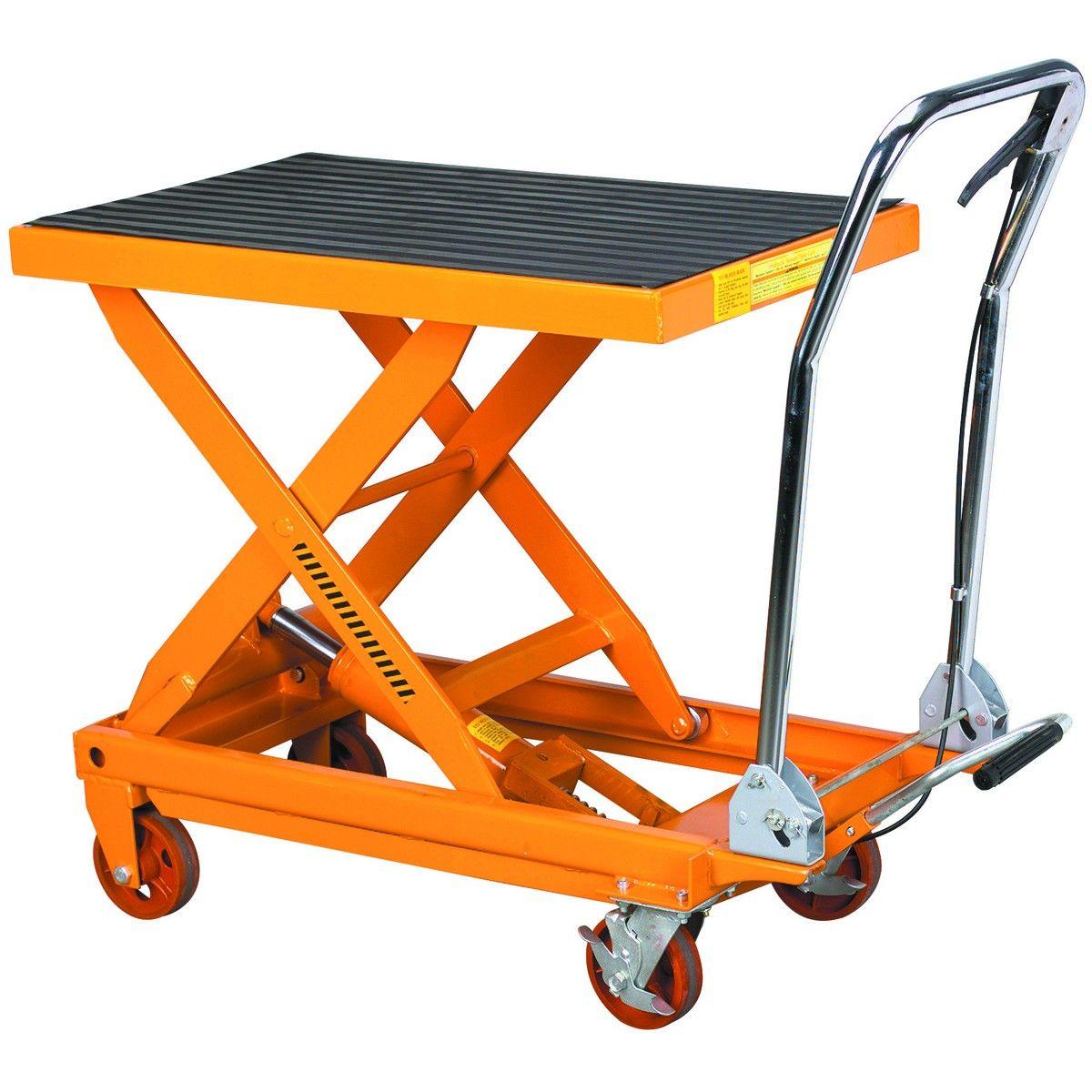 Hydraulic Scissor Lift Carts : Lb capacity hydraulic table cart scissors