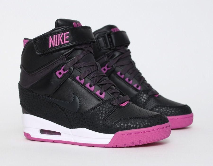 a4ce994035 Nike Air Revolution Sky Hi Black/Pink   shoes   Chaussure, Baskets ...