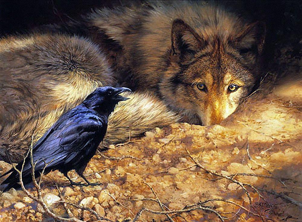 открытки птичка и волк вруке девушки букет
