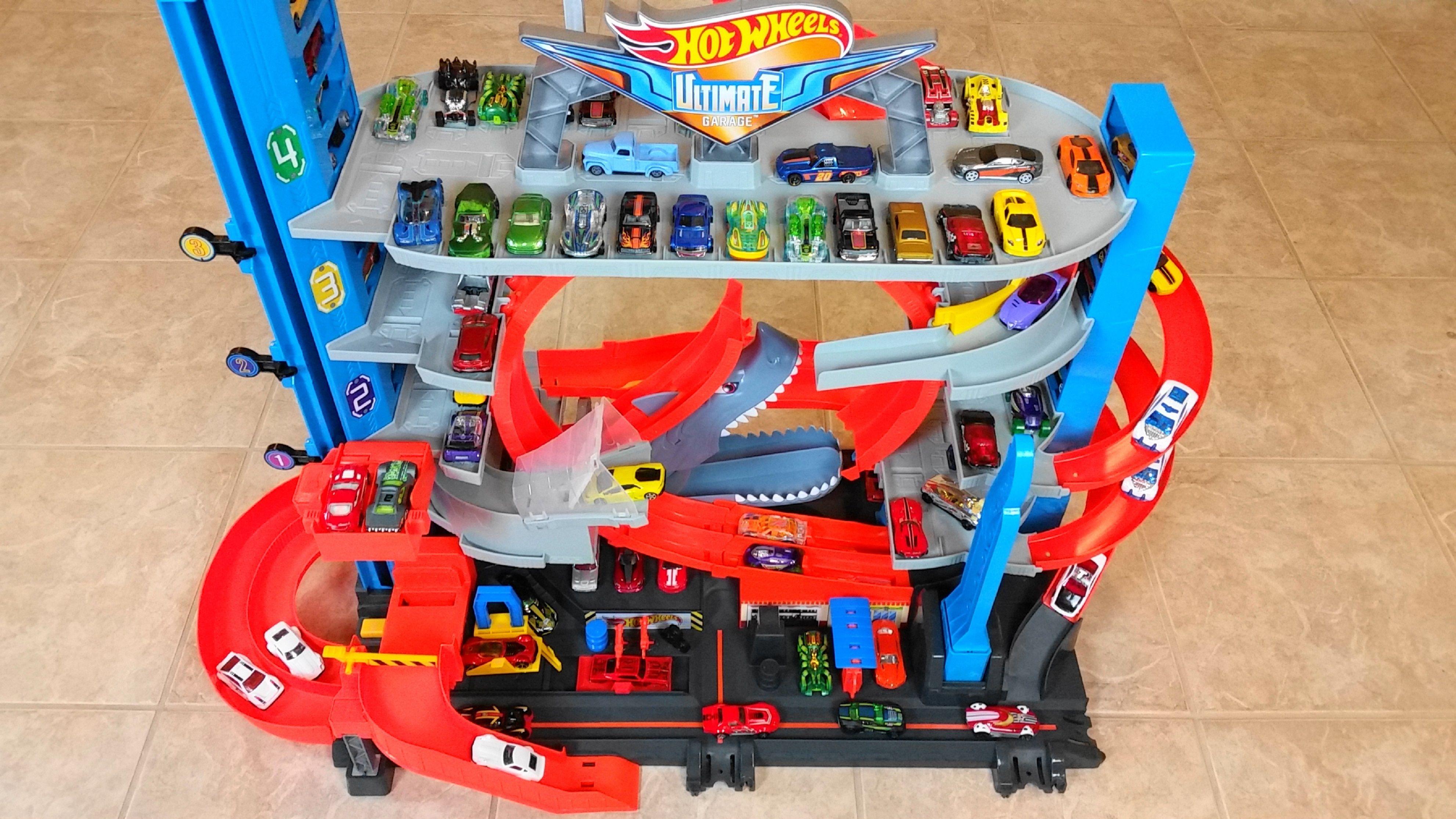 Hot Wheels Ultimate Garage With Shark Attack Ramp Hot Wheels