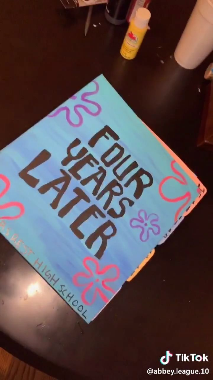 Graduation Cap Discover Abbey League 10 High School Scrap Book Sponge Bob Style Cant Wai In 2020 Friend Birthday Gifts Diy Birthday Gifts Cute Birthday Gift