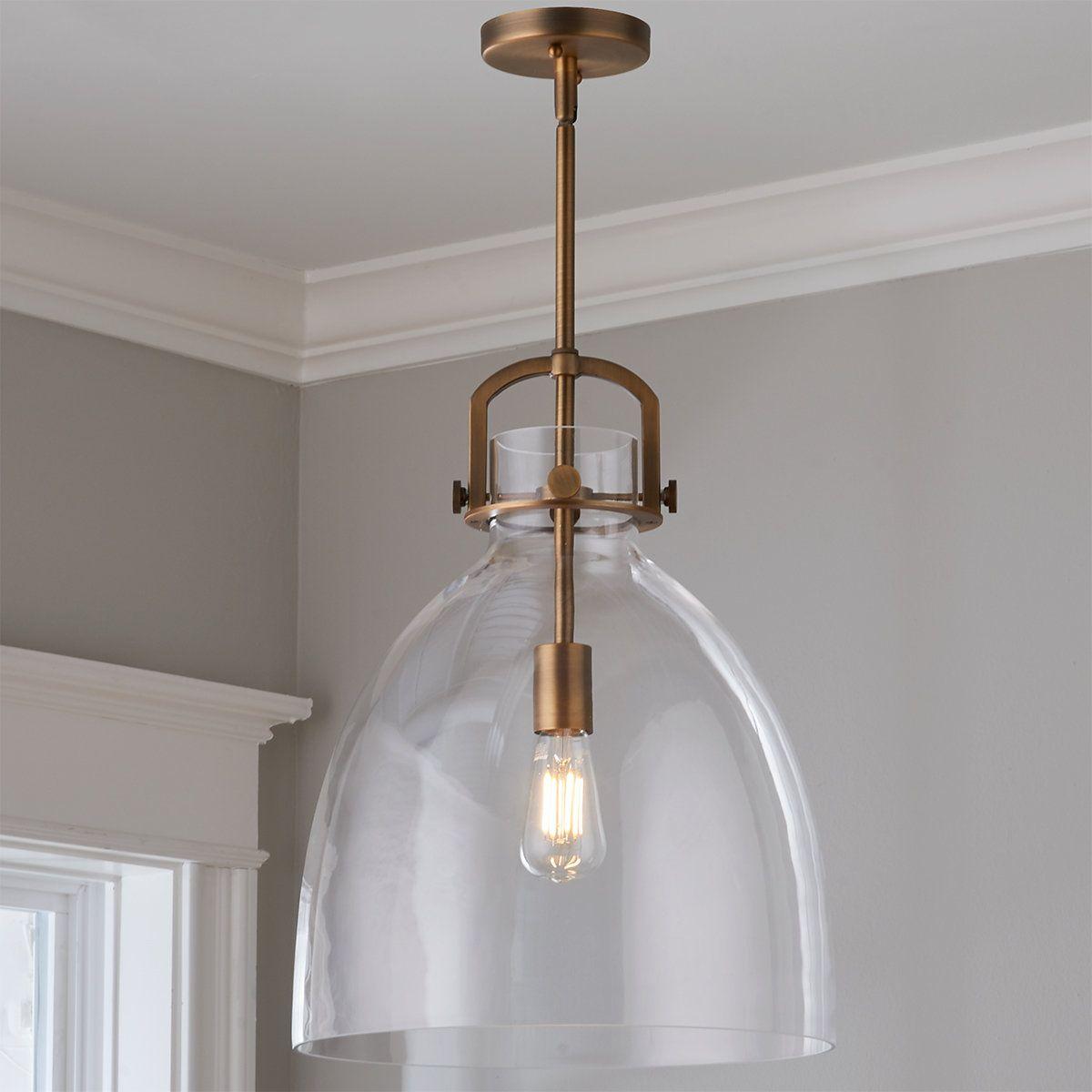 Urban Dome Pendant Medium Dome Pendant Glass Pendent Lights Vintage Bulb