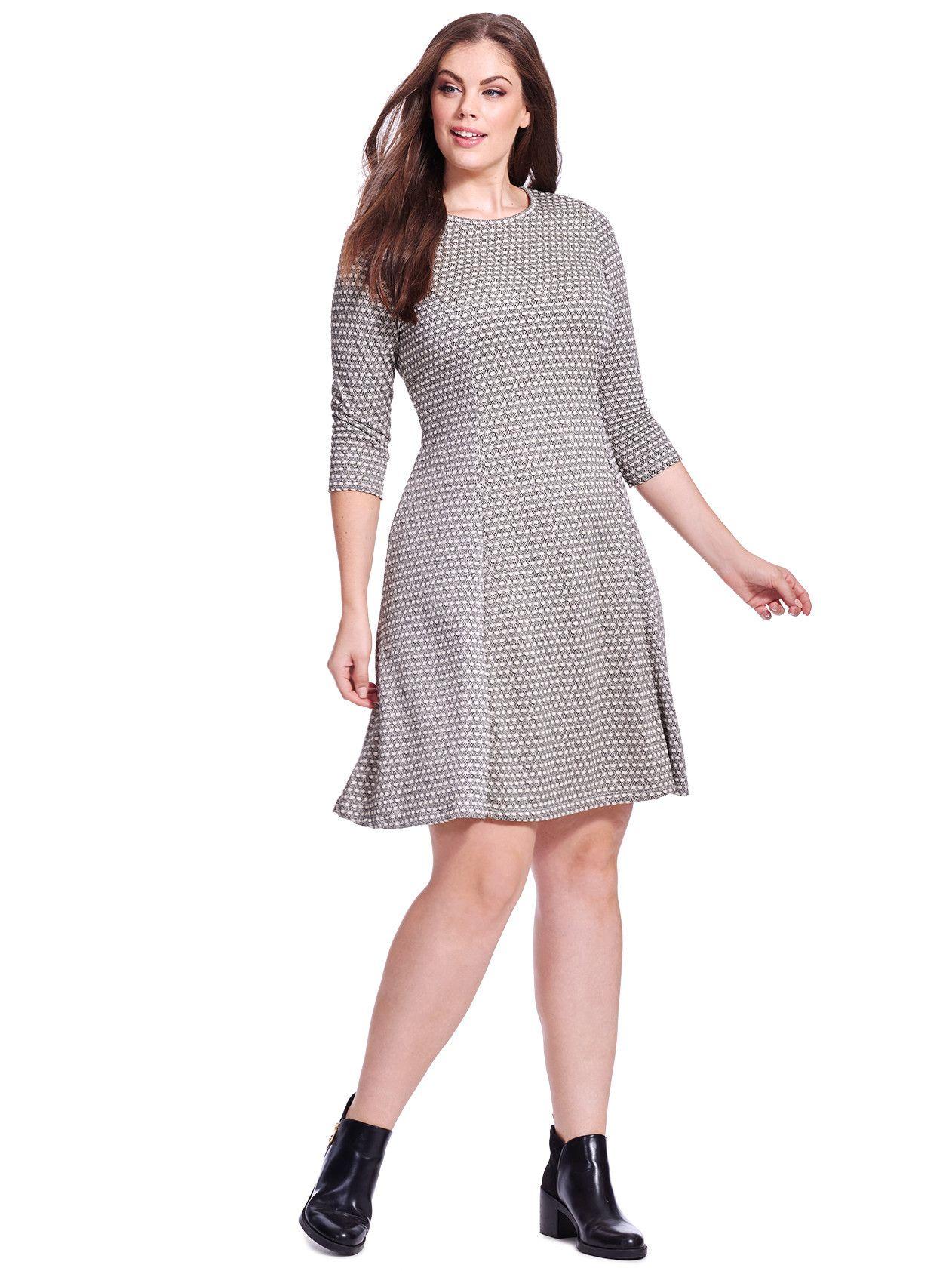 Black Cream Fit Flare Dress Fit Flare Dress Dresses Perfect Dress [ 1684 x 1262 Pixel ]