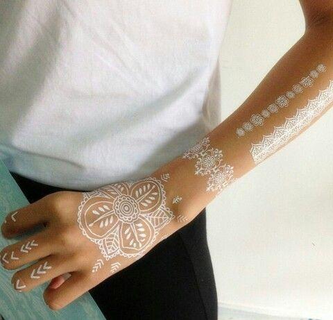 White tribal tattoo