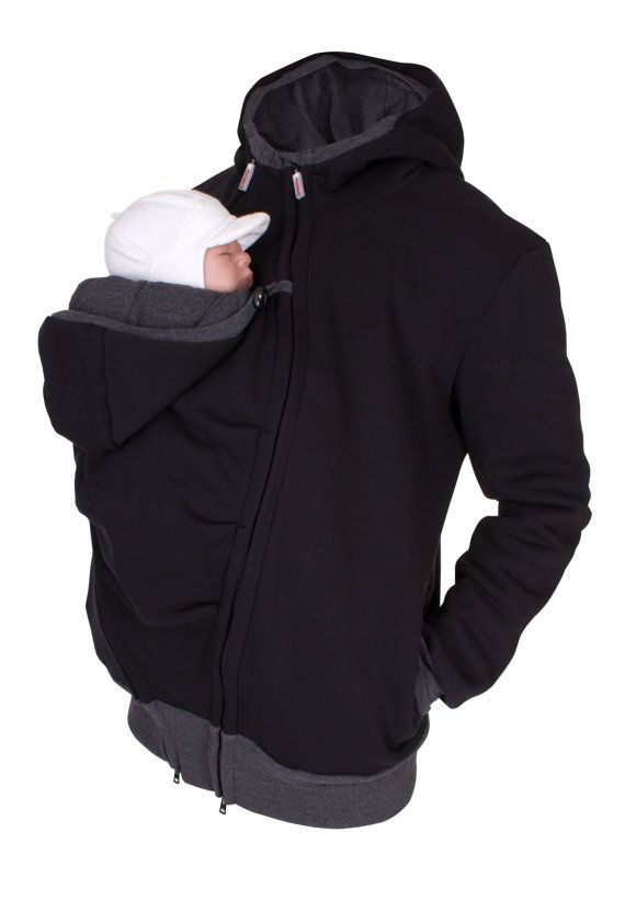 Multi Functional Kangaroo Hoodie And Baby Carrying Jacket For Men In