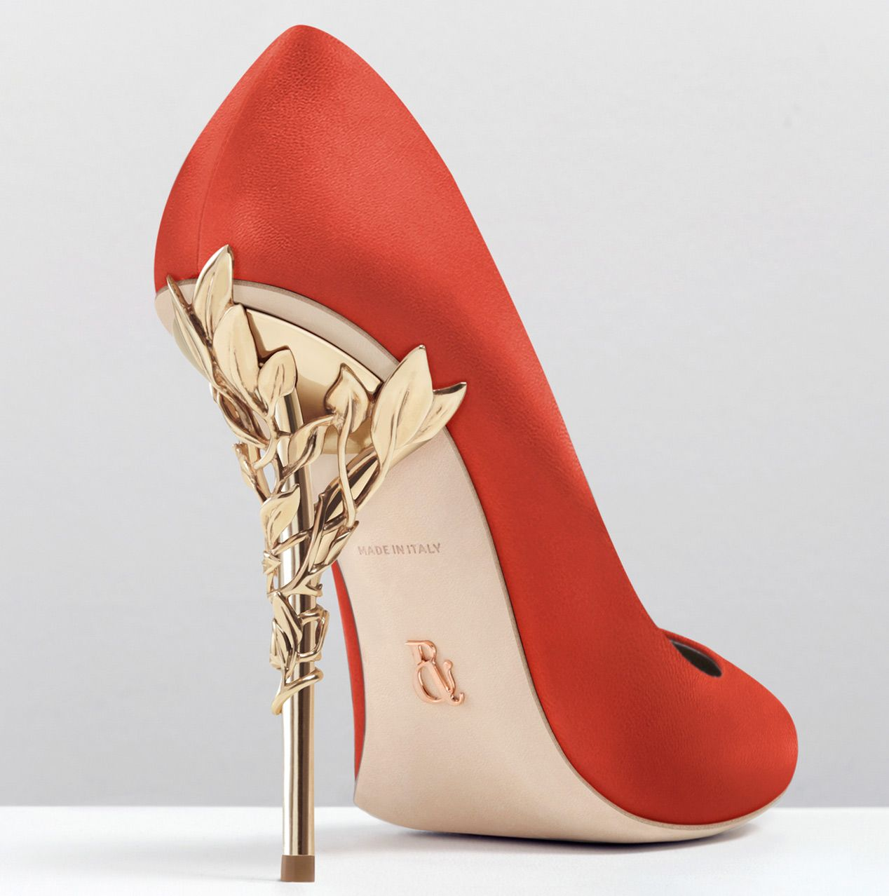 0970f16736d ralph-and-russo-eden-heel-pump-coral-leather-light-gold-leaves-heel -detail-2 2x 1 6