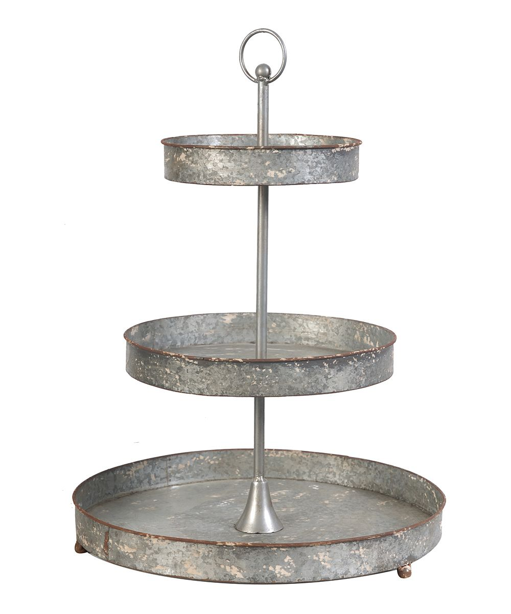 Distressed Metal Tiered Stand Zulily Metal Tiered Stand Tiered Stand A B Home