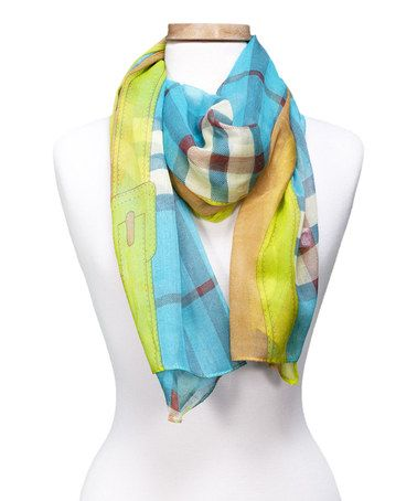 Another great find on #zulily! Turquoise Dreamy Block Scarf #zulilyfinds