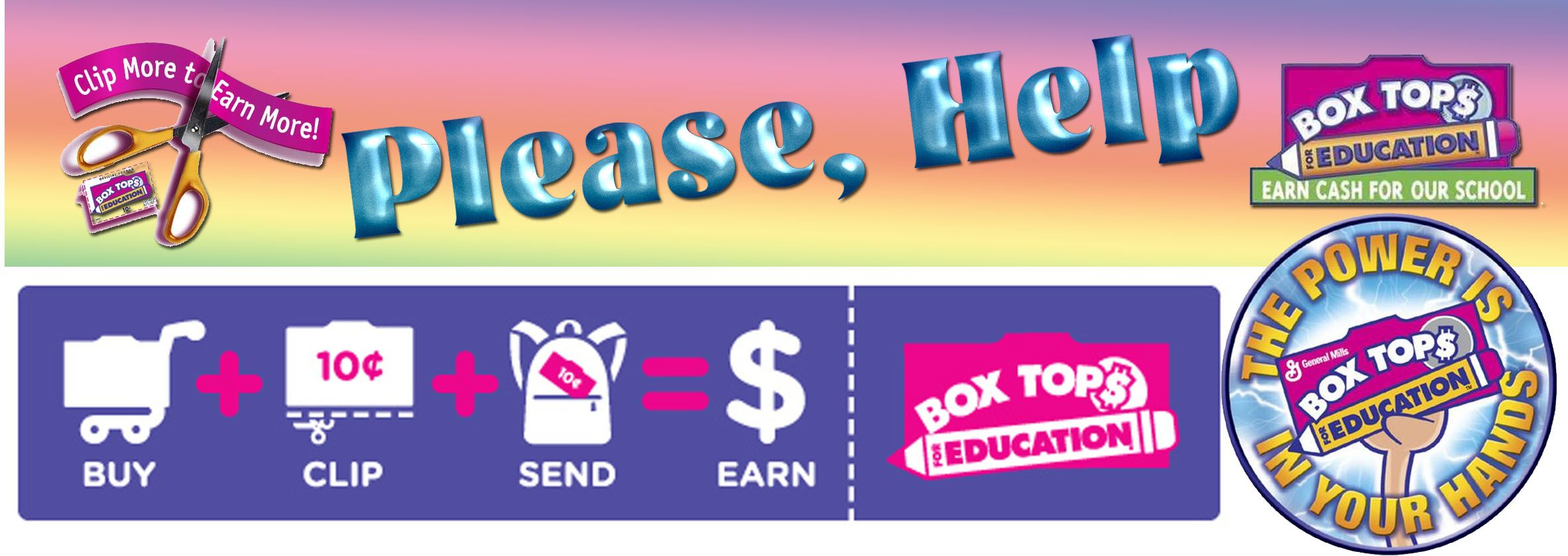 Click here for letter to parents about box tops