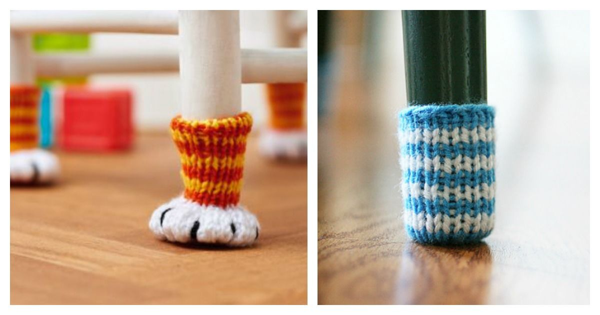 Chair Socks Free Knitting Pattern
