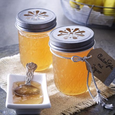 quitten gelee mit ingwer rezept backen kochen pinterest gelee marmelade und konfit re. Black Bedroom Furniture Sets. Home Design Ideas