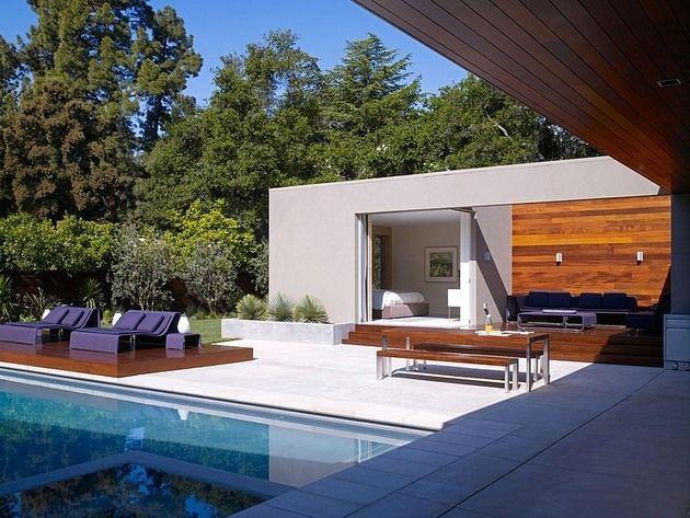 Modern day u shaped california house with central patio home design idee per casa nuova - Idee per casa nuova ...