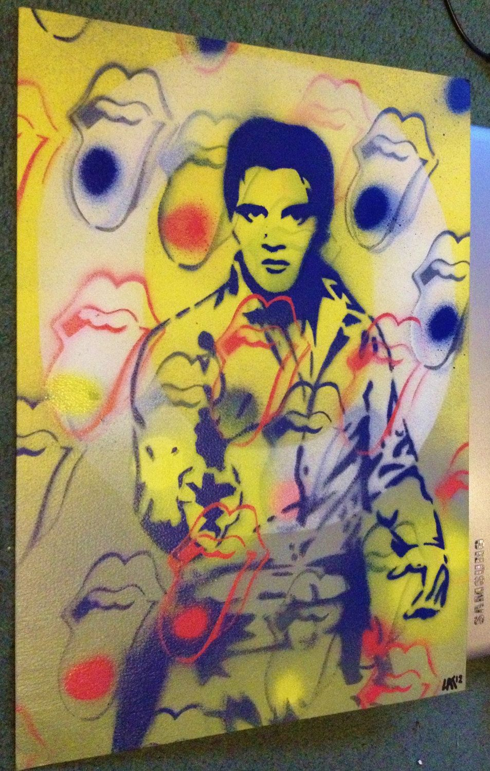 painting of elvis presleystones v by AbstractGraffitiShop on Etsy ...