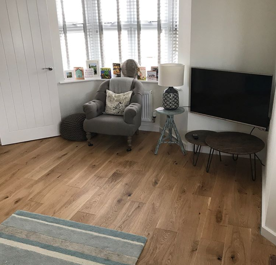 Carpenters Choice Oak 180mm Wide Brushed Oiled Direct Wood