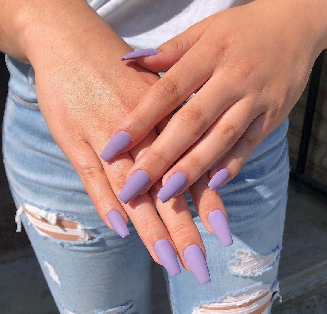 Lavendernails In 2020 Lavender Nails Lilac Nails Purple Acrylic Nails