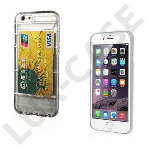 Waltari (Läpikuultava) iPhone 6 Card Holder Suojakuori