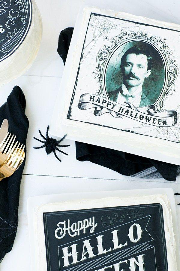Printable and Edible Halloween Cake Designs! Halloween cakes, Cake
