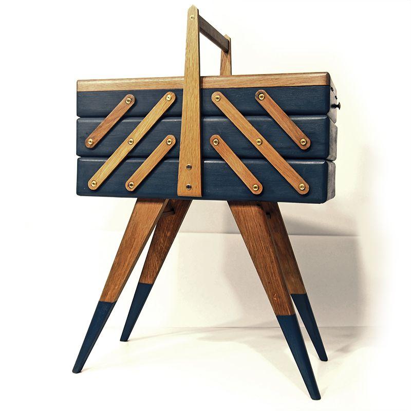 travailleuse relookée scandinave vintage révision meuble
