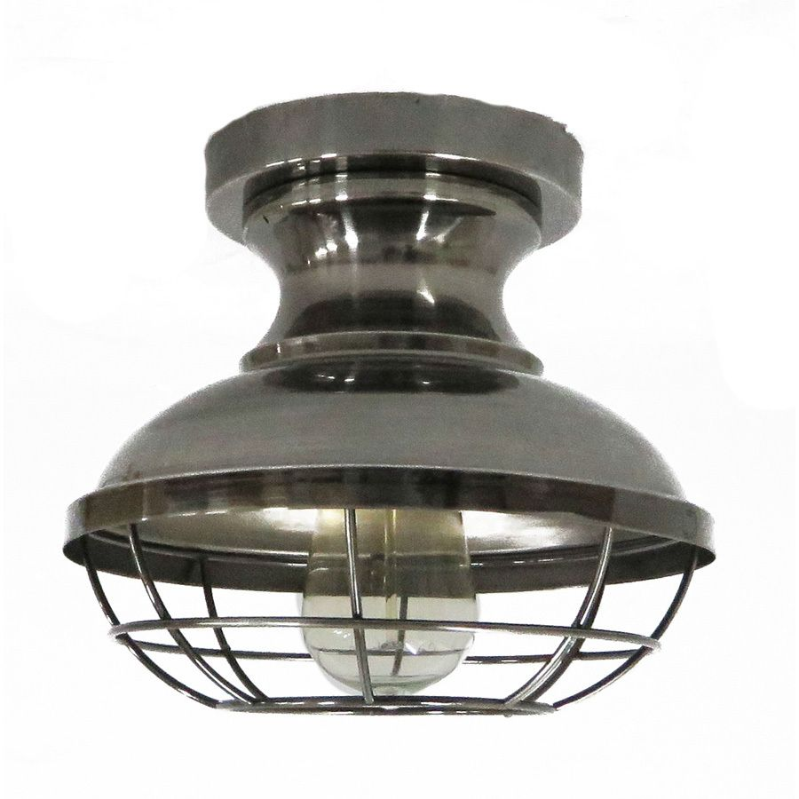 Allen roth 84 in w antique nickel metal semi flush mount light allen roth w antique nickel metal semi flush mount light at lowes this allen roth ceiling fixture is the perfect industrial addition to any room and arubaitofo Image collections