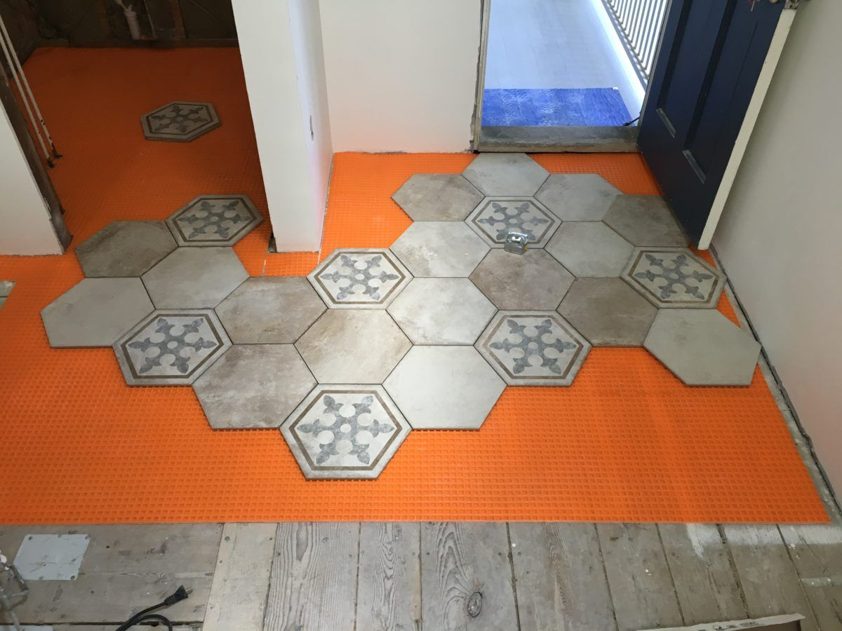 We Opted For Schluter Ditra Xl Which Sat The Tile At Same Height As