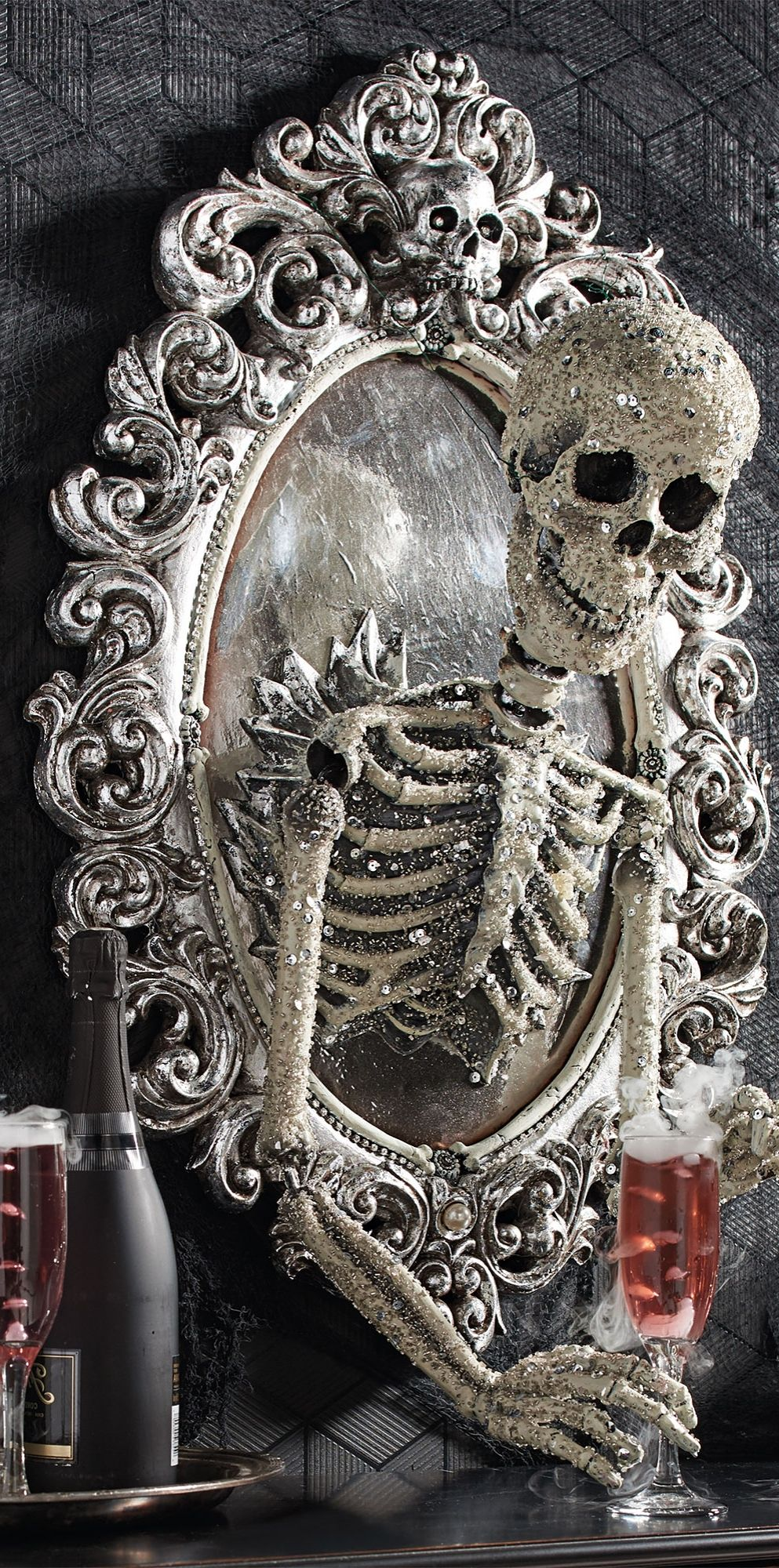 sorceress skull framed mirror frame mirrors decorating and