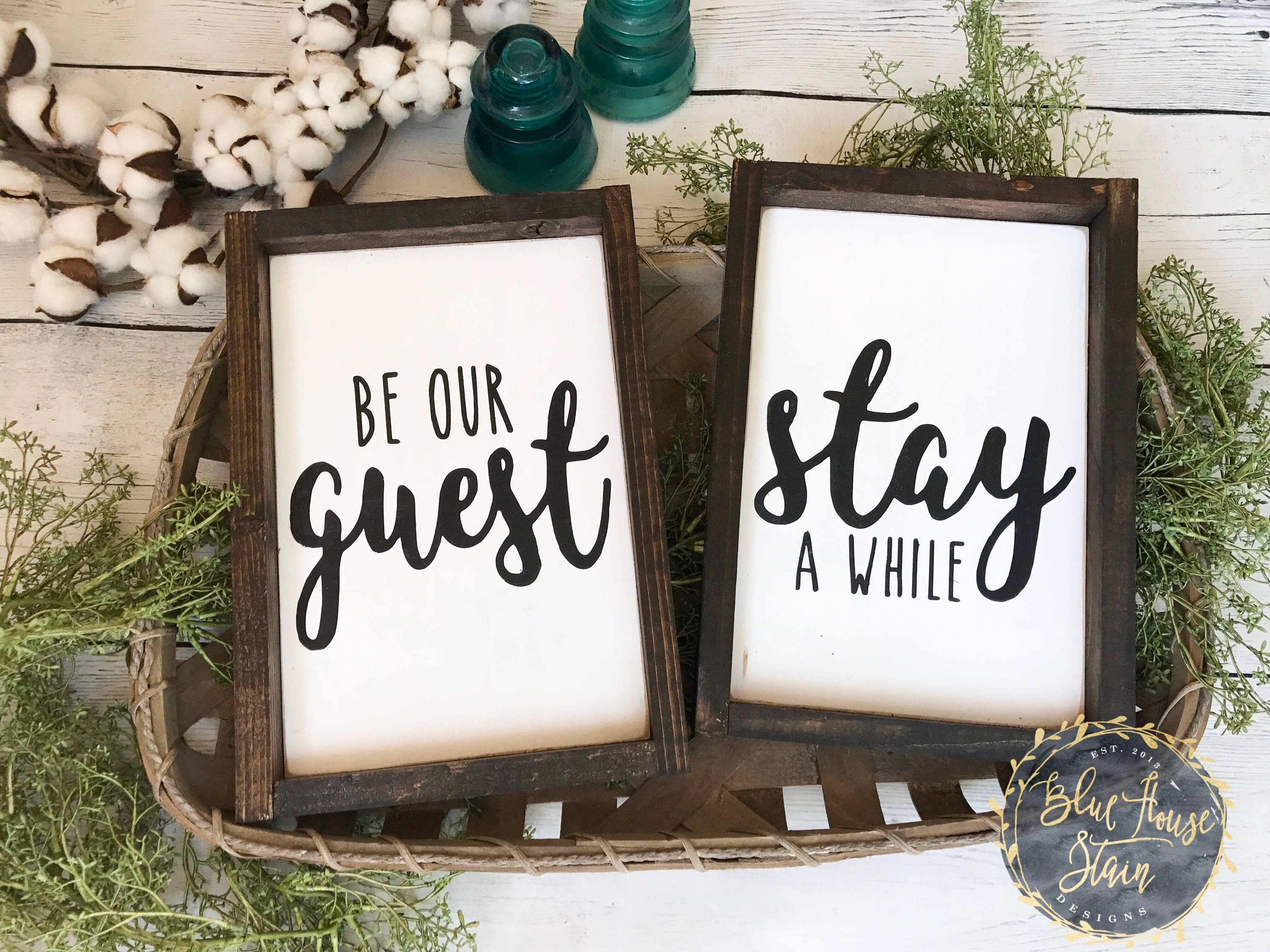 Perfect Sign Set For Your Guest Room Follow The Link To Purchase