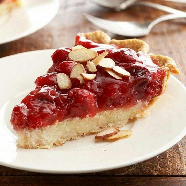 Cherry- Almond Cheese Pie